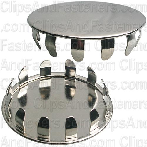 Metal Plug Button 1 1 2 Hole Nickel Pltd