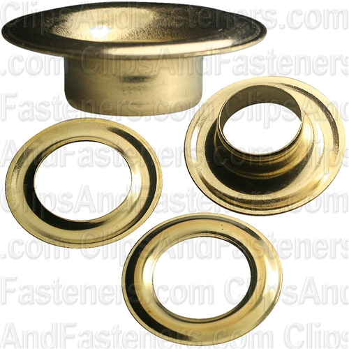 No 5 Size Grommet And Washer Brass