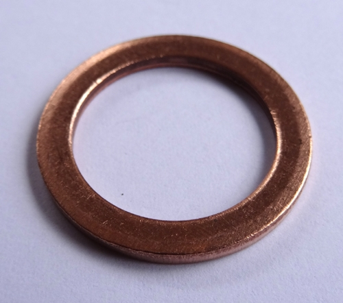 Copper Washer 19mm I D 26mm O D 2 0mm Thick