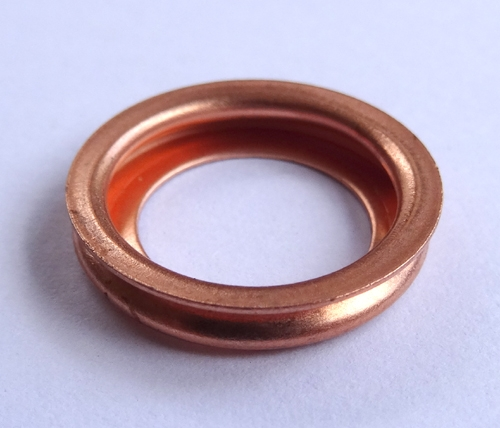 Copper Crush Washer 11mm I D 17 5mm O D 3mm Thick