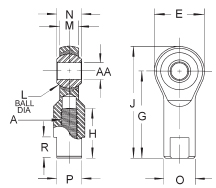 Rod End Ball Joint Female