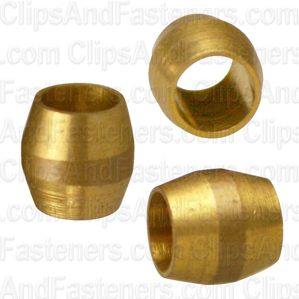 25 Brass Compression Fitting Sleeves 1/8