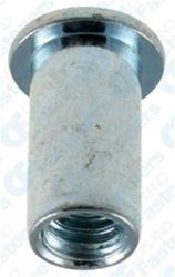 """25 1//4-20 U.S.S Large Flange Thin Sheet Aluminum Nutserts Grip Range .020/""""-.080"""